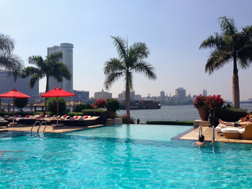 Nile view from the pool