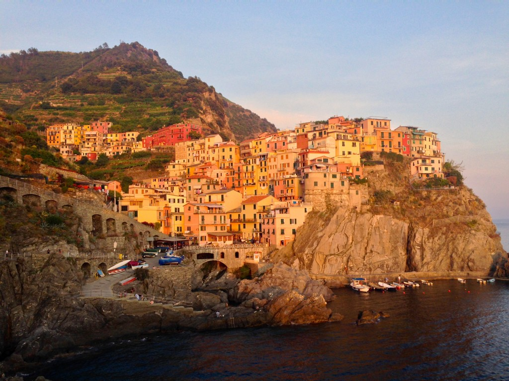 Watching the sunset over Manarola