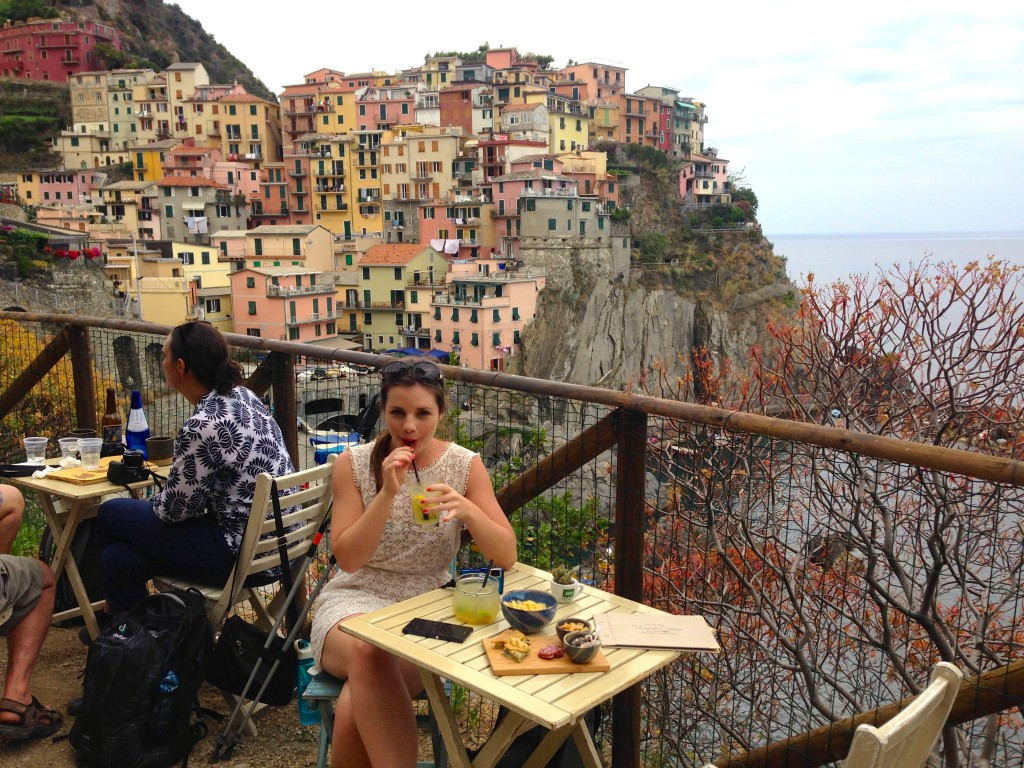 Back to Manarola for a pre-dinner drink