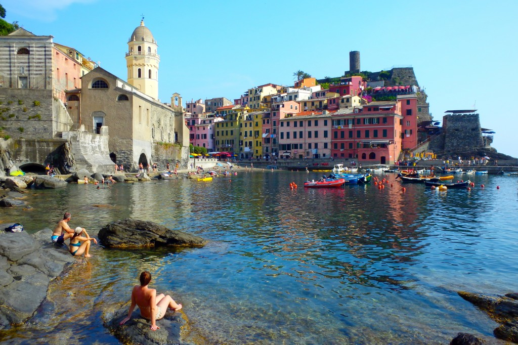 Enjoying the view of Vernazza