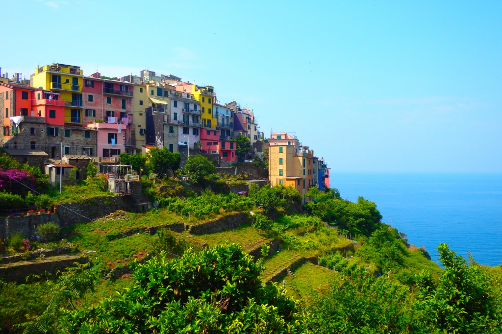 Corniglia and the sea