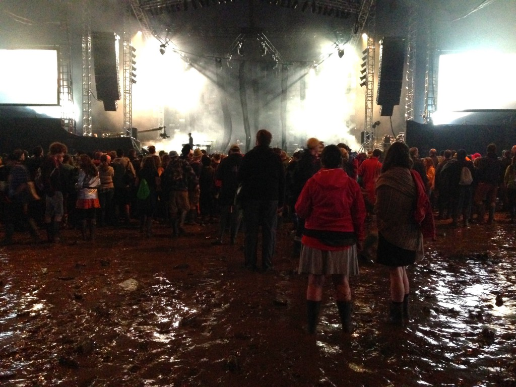 Just a little bit of mud while waiting for Lykke Li