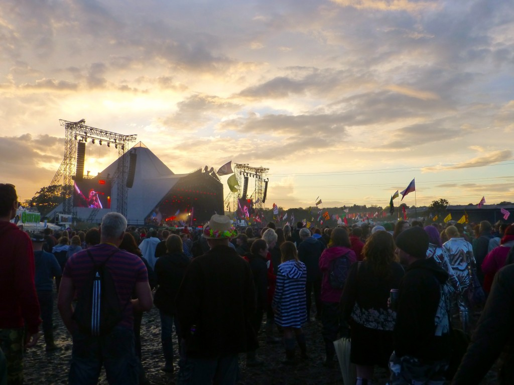 Catching the end of Elbow at the Pyramid Stage