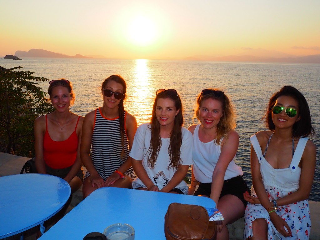 The girls at sunset