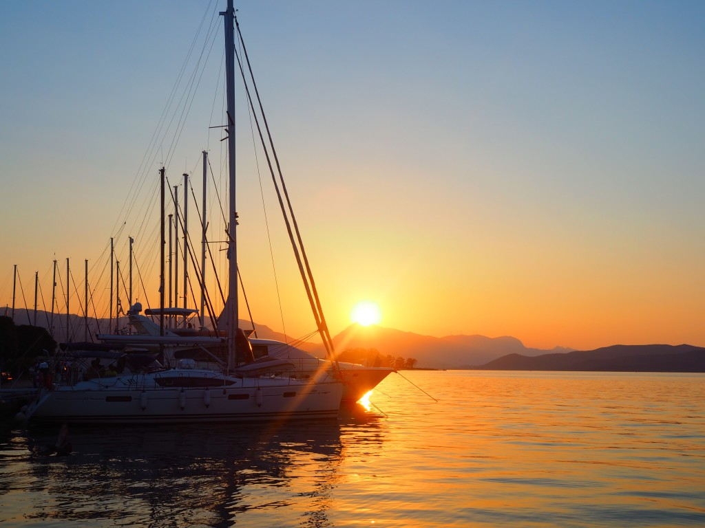 Sunset over Poros