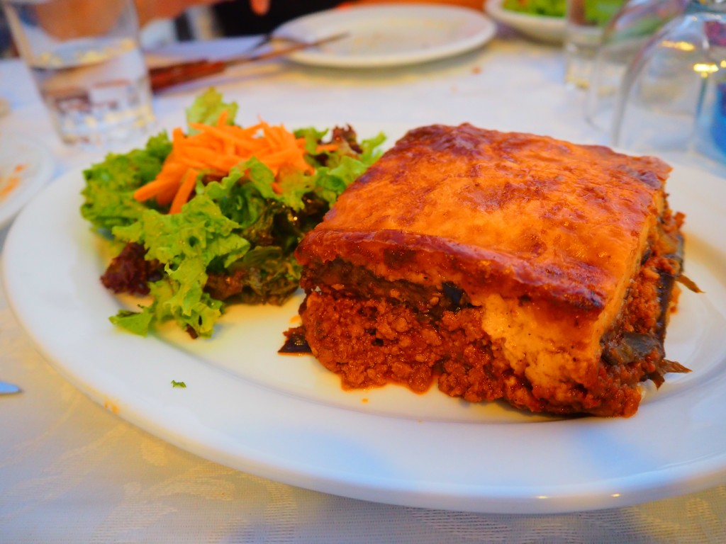 Moussaka, the first of many!