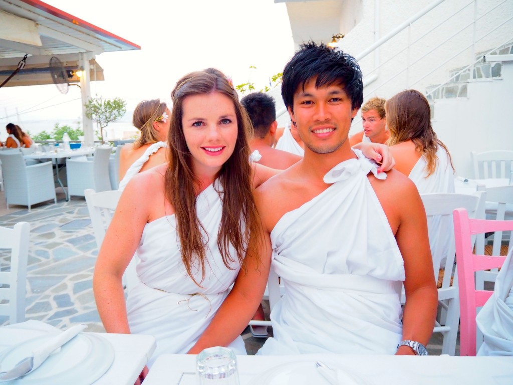 Micu and I in our togas