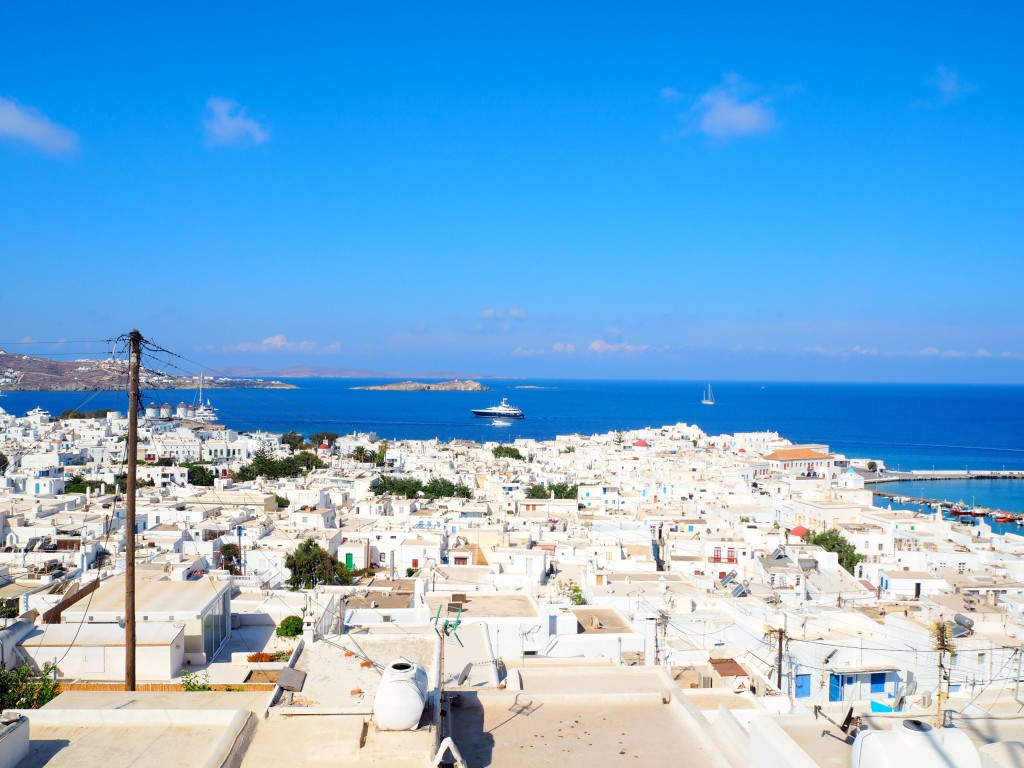 Mykonos from the top