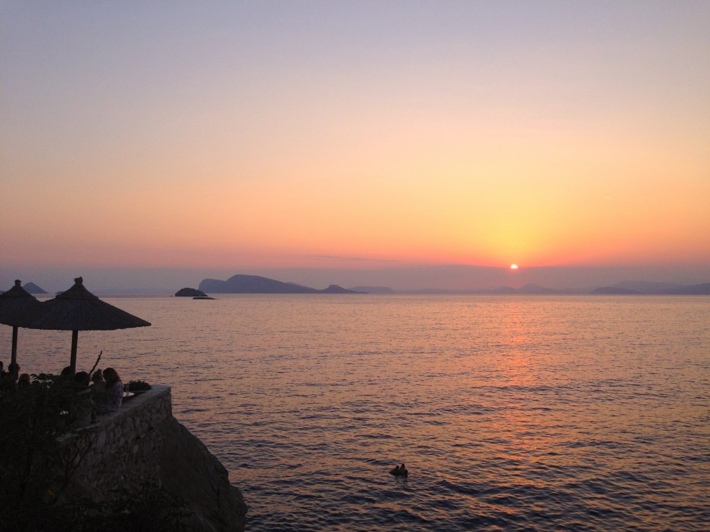 Sunset over Hydra