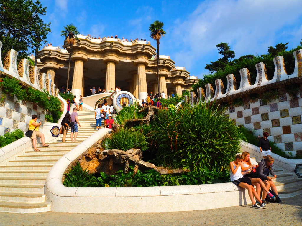 The entrance to Park Güell