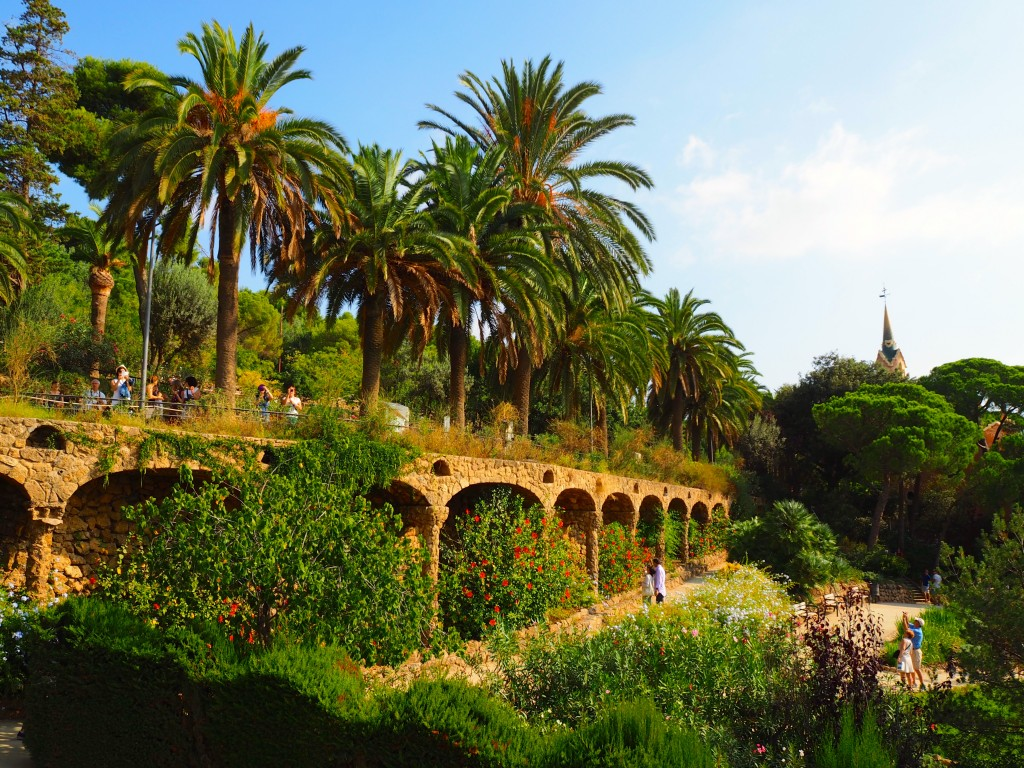 Some of the gardens in Park Güell