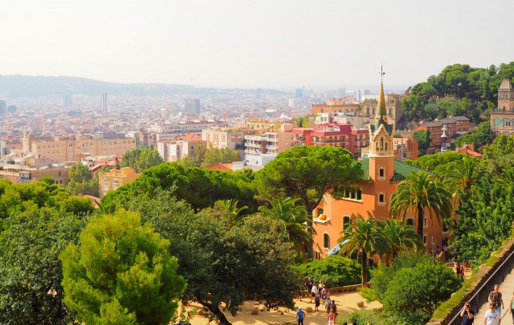 View of the city from Park Güell