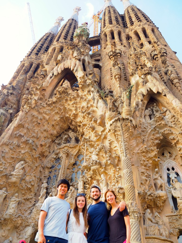 Sagrada Familia with Kate and James