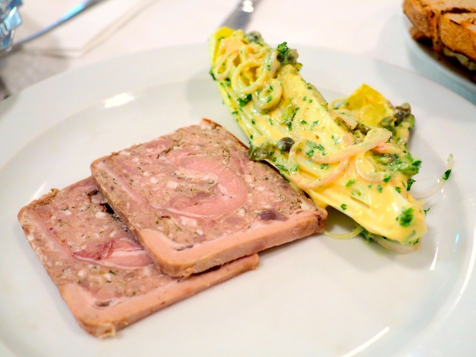 Veal terrine with chicory