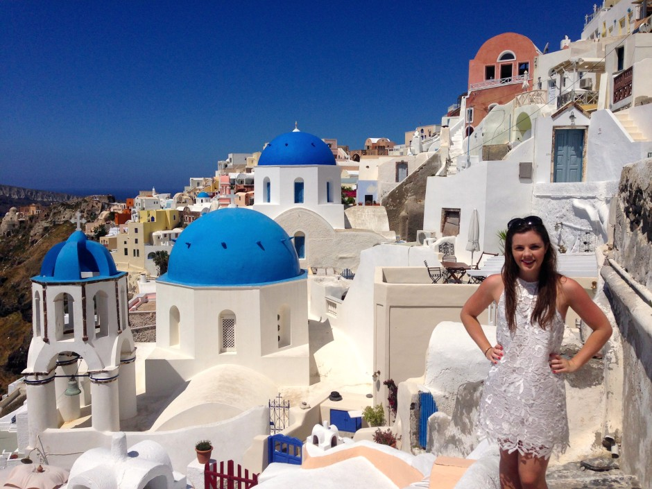 Living a blue and white dream in Santorini