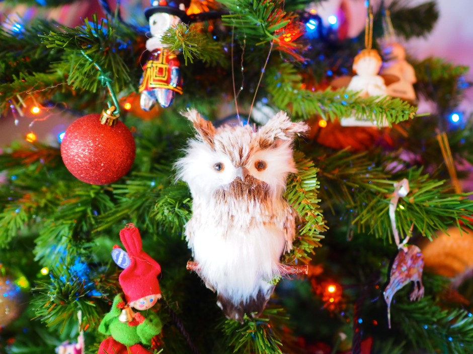 A new addition to the Christmas tree this year - an owl from Vienna